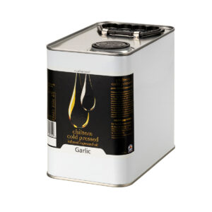Chiltern Cold Pressed Rapeseed Oil Garlic Infused 2.5L Tin - Copy