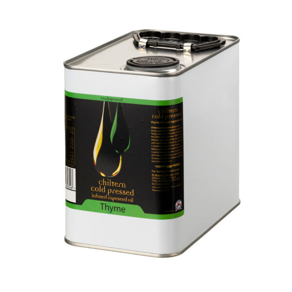 Chiltern Cold Pressed Rapeseed Oil Thyme Infused 2.5L Tin